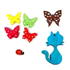 Πεταλούδες Ζωάκια Ξύλινα