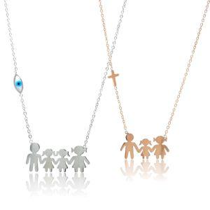Κοσμήματα Λαιμού Οικογένειες Ατσάλι