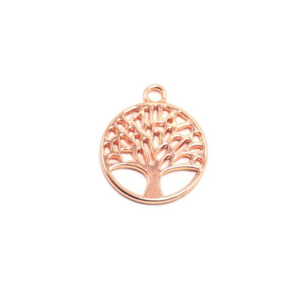 Δέντρο Ζωής Ροζ Χρυσό 30x35mm