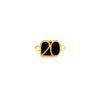Μοτίφ 20 με 2 Κρικάκια Χρυσό Μαύρο 17,7 x 9,8mm