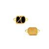 Μοτίφ 20 με 2 Κρικάκια Χρυσό Μαύρο 17,7 x 9,8mm(2)
