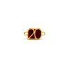 Μοτίφ 20 με 2 Κρικάκια Χρυσό Μπορντώ 17,7 x 9,8mm