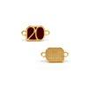 Μοτίφ 20 με 2 Κρικάκια Χρυσό Μπορντώ 17,7 x 9,8mm(2)