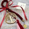 Χειροποίητο Γούρι 2020, Δέντρο Ζωής, Μπορντώ Κορδόνι & Φούντα (3)