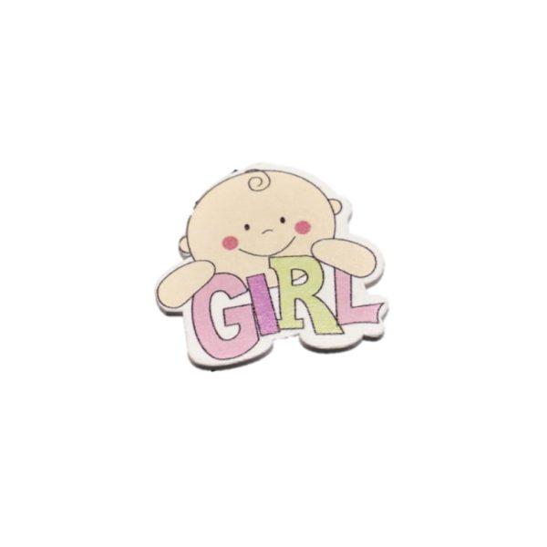 Ξύλινο Girl 4,1×4,3cm