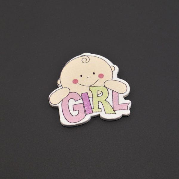 Ξύλινο Girl 4,1×4,3cm(2)