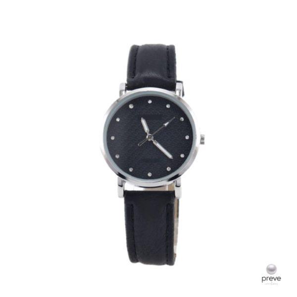 Γυναικείο Ρολόι Μαύρο & Ασημί