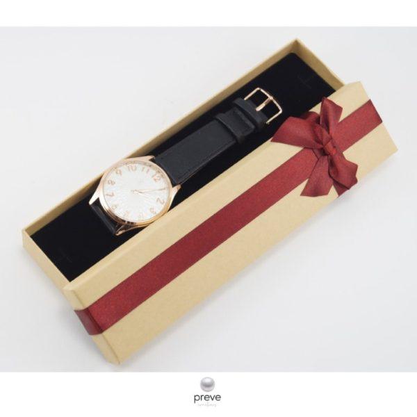Γυναικείο Ρολόι Μαύρο με Ροζ Χρυσό(με deluxe θήκη)