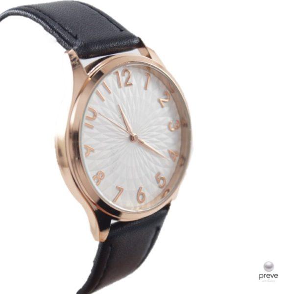 Γυναικείο Ρολόι Μαύρο με Ροζ Χρυσό(2)